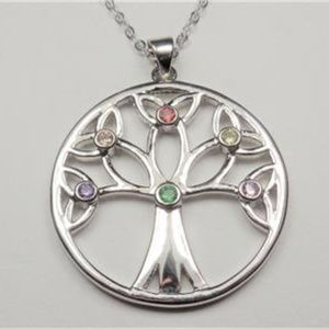 Jewelry - SILVER TONE NATURE RAINBOW TREE OF LIFE NECKLACE
